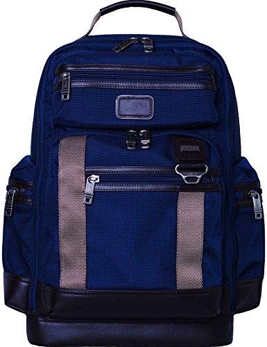 LEHANZ 17 Inch Laptop Bag, Multi-Pocket Travel Backpack with Back Strap, Slim Shoulder Bag, Water-Resistant Nylon Business Laptop Backpack for Men Women Fits 14 17 Inch Computer, Tablet, Navy
