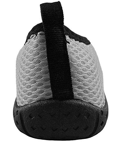 Aqua Water Socks Grey Women amp; Quick On Slip Men Dry Children for Barefoot Zipper Runner Wave Shoes with qgw4RxpXpt