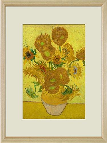 Creative 3D Visual Effect Wall Mural Sunflower by Van Gogh Peel Stick Wall Decor