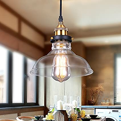 Pendant hanging ceiling light fixture with glass lamp shade pendant hanging ceiling light fixture with glass lamp shade aluminum light bulb with rustic design aloadofball Gallery