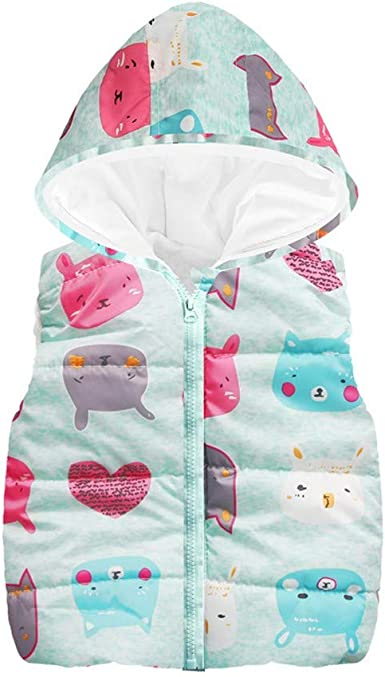 Hooded Waistcoat for Toddler Baby Girl Boy Clothes Winter Kids Outfits Long Sleeve Cat Coat Vest Zipper Jacket