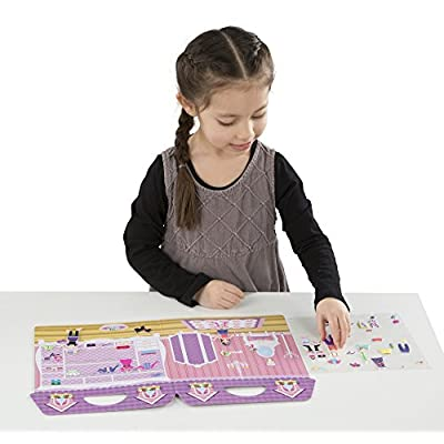 Melissa & Doug Puffy Sticker Activity Books Set: Dress-Up, Princess, Mermaid - 208 Reusable Stickers: Toys & Games