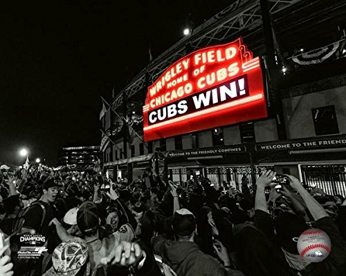 Wrigley Field Chicago Cubs 2016 World Series Game 7 Spotlight Photo (8