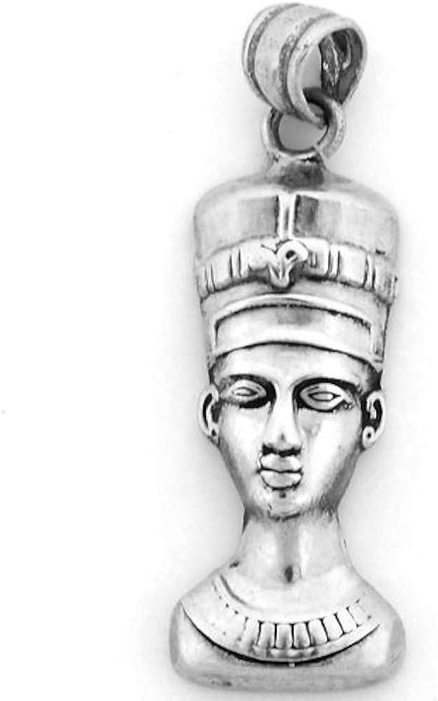 KemetArt Egipcio Joyas Plata Reina Nefertiti Colgante: Amazon.es: Joyería