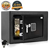 Home Security Electronic Lock Box - Safe with Mechanical Override, Digital Combination Lock Safe, LED Low Battery Indicator, Includes Mounting Bolts, Keys & (4) x 'AA' Batteries - SereneLife SLSFE15