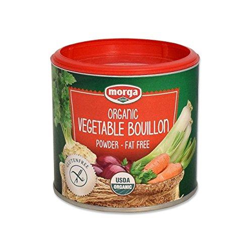 Morga USDA-ORGANIC Vegetable Bouillon Powder (5.3oz / 150g) (Veggie Broth / Stock / Base / Soup / Better Than)