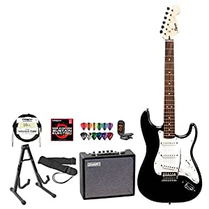 Electric Guitar For Beginners Amazon : fender black electric guitar perfect for beginners includes stand strap gig ~ Russianpoet.info Haus und Dekorationen