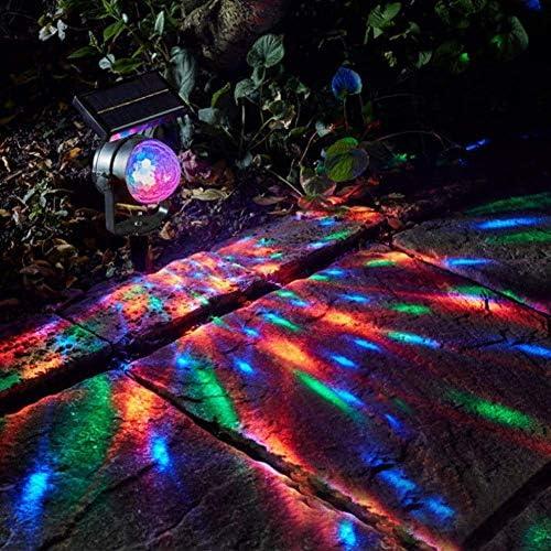 LED Solar Rasenlampe Projektions Solarlicht Garten Rasen Lampen Wasserdicht