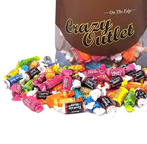 CrazyOutlet Pack - Tootsie Roll Fruit Chews Assorted Flavor Bulk Candy, 2 lbs ()