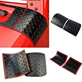 Cowl Body Armor Cowling Cover for Jeep Wrangler Rubicon Sahara Jk & Unlimited 2007-2015-One Pair (Latest Upgrade Version)