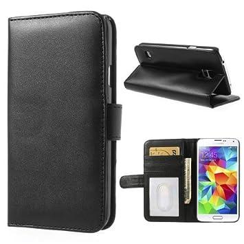 NALIA Funda Libro Compatible con Samsung Galaxy S5 S5 Neo, Carcasa con Tapa Ultra-Fina Flip-Case Book-Cover, Movil Telefono Cubierta Cuero Sintético ...