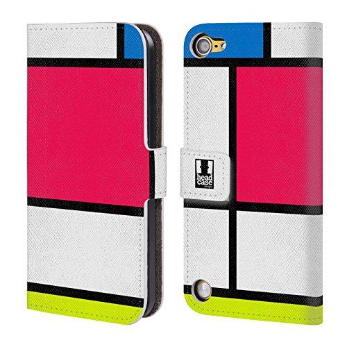 Head Case Designs Neon Tegola Colorata Cover a portafoglio in pelle per iPod Touch 5th Gen / 6th Gen