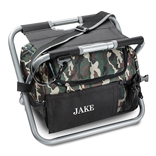Personalized Camouflage Sit 'n Sip Cooler Seat - Personalized Cooler Chair - Insulated Cooler - Camo Cooler (Insulated Cooler Chair)