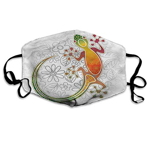 Batik Fashion Mouth Mask Tribal Art Frog Flowers for Cycling Camping Travel W4