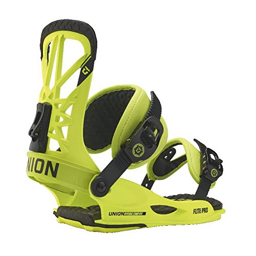 Union Flite Pro Snowboard Bindings Neon Yellow Mens Sz L/XL (10.5-14)