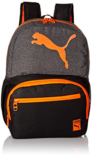 PUMA Boys' Little Backpacks and Lunch Boxes, Gray/Orange, Youth