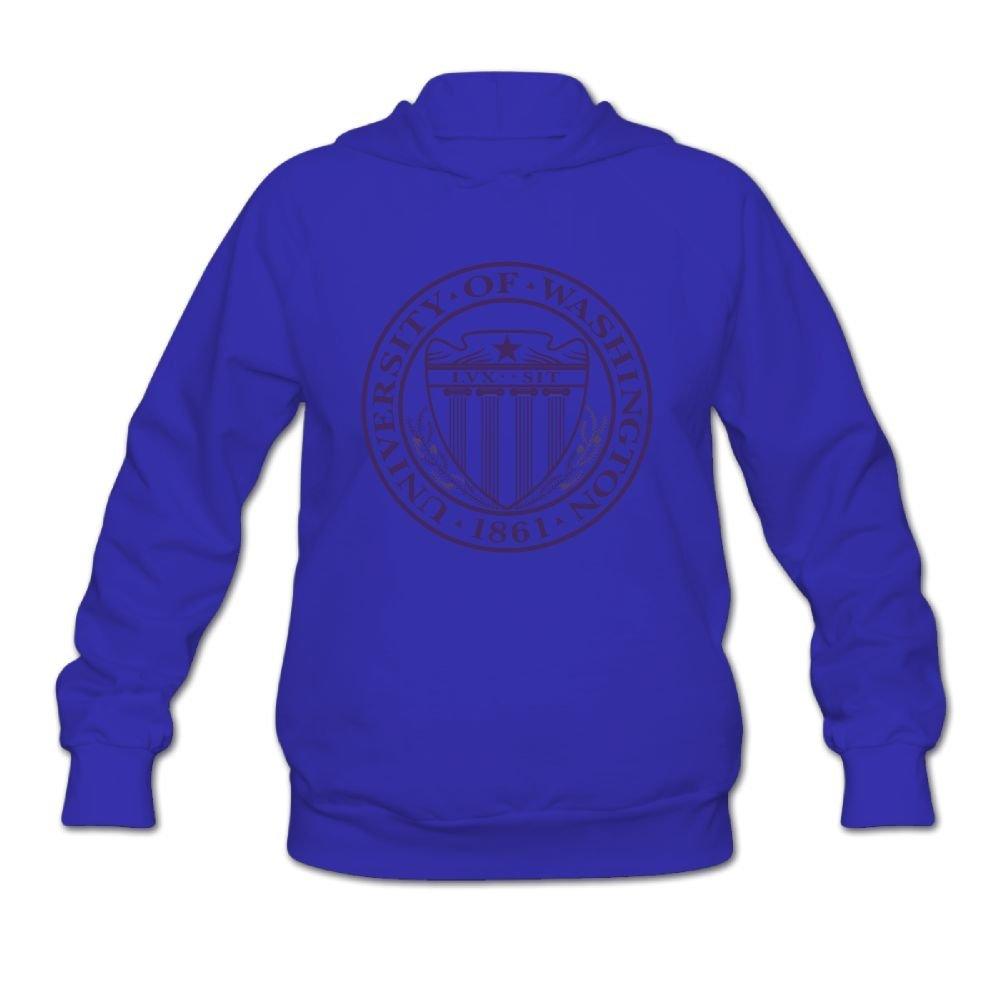 QTHOO Women's University of Washington Established 1861 Long Sleeve Hooded Sweatshirt