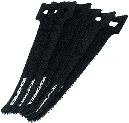 50x Cable Velcro Tape 16cm x 16mm Black Velcro Velcro Cable Ties Tape with Eyelet