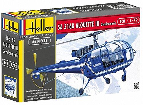 Heller SA316B Alouette III Gendarmerie Helicopter Model Building Kit