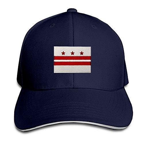 Washington DC State Flag Unisex Embroidery Adjustable Baseball Caps Hat