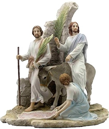 13.38 Inch Jesus Enter Jerusalem on Palm Sunday - Light Color