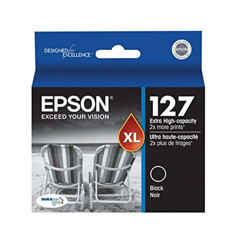 - Epson DURABrite XL T127120 Ultra 127 Extra High-capacity Inkjet Cartridge-Black