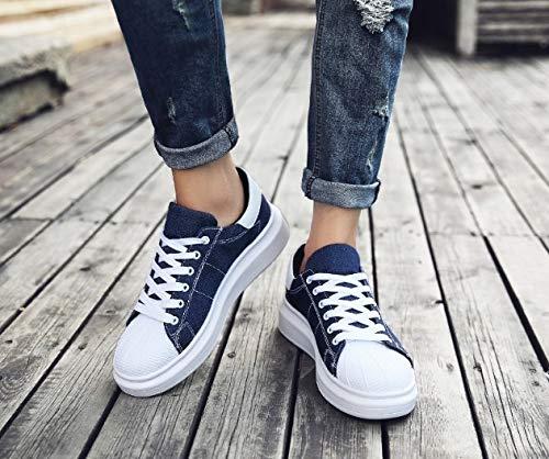 Da Fitness A Piedi Basse Ginnastica Sneaker Cesto Corsa Flat Donna In Outdoor Esecuzione Tela Leggero Uomo Ysfu Traspirante Scarpe Universali 6EwqwP