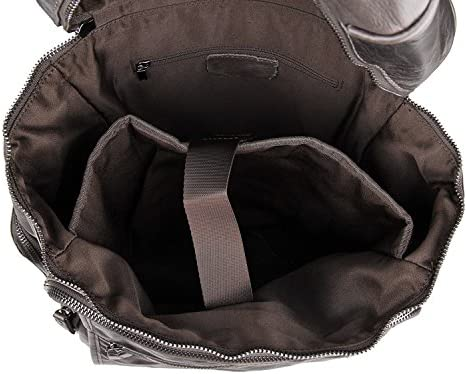 Ybriefbag Mens Backpack Mens Backpacks Leather Backpack Mens Luggage Bags Backpacks Color : Gray, Size : L