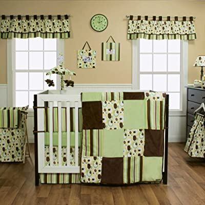 Giggles 4 Piece Crib Bedding Set by Trend Lab