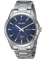 Seiko Mens SNE361 Analog Display Japanese Quartz Silver Watch