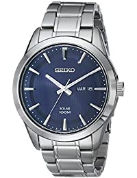 Mens SNE361 Analog Display Japanese Quartz Silver Watch. Seiko