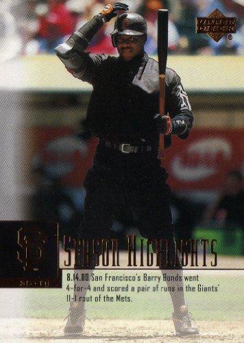 2001 Upper Deck Baseball #270 Barry Bonds SH
