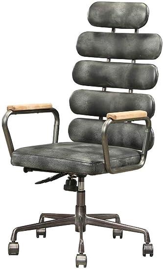 Amazon Com Acme Calan Executive Office Chair Vintage Black Top Grain Leather Furniture Decor
