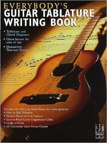 Guitar guitar tablature writer : Amazon.com: Everybody's Guitar Tablature Writing Book ...