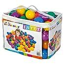 """Intex 3-1/8"""" Fun Ballz - 100 Multi-Colored Plastic Balls, for Ages 2+"""