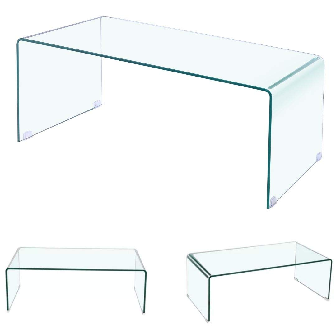 Amazing Heavenly Collection Waterfall Glass Coffee Table Clear Download Free Architecture Designs Crovemadebymaigaardcom