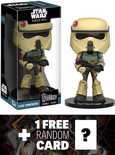 Scarif Stormtrooper: Funko Wobblers x Star Wars Vinyl Figure + 1 FREE Official Star Wars Trading Card Bundle (113847)