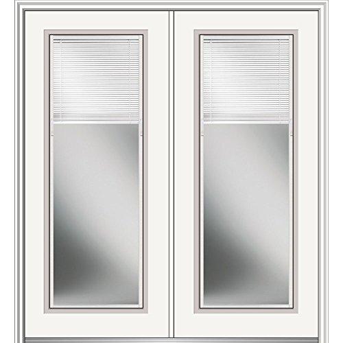 National Door Z029722R Primed Right Hand In-Swing Prehung Front Door, Full Lite, 64'' x 80'', Steel by National Door Company