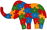 PIGLOO Wooden Elephant Puzzle Toy With A-Z English Alphabet and Numbers Puzzle