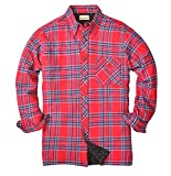 Backpacker Men's Flannel/Quilt Lined Shirt Jacket, Blue/Stuart, X-Large