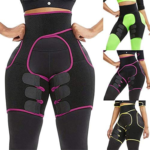 太ももトリマーハイウエスト太ももトリマーバットリフタートレーニング超軽量ストレッチ脚と臀筋トレーニング,紫色,M