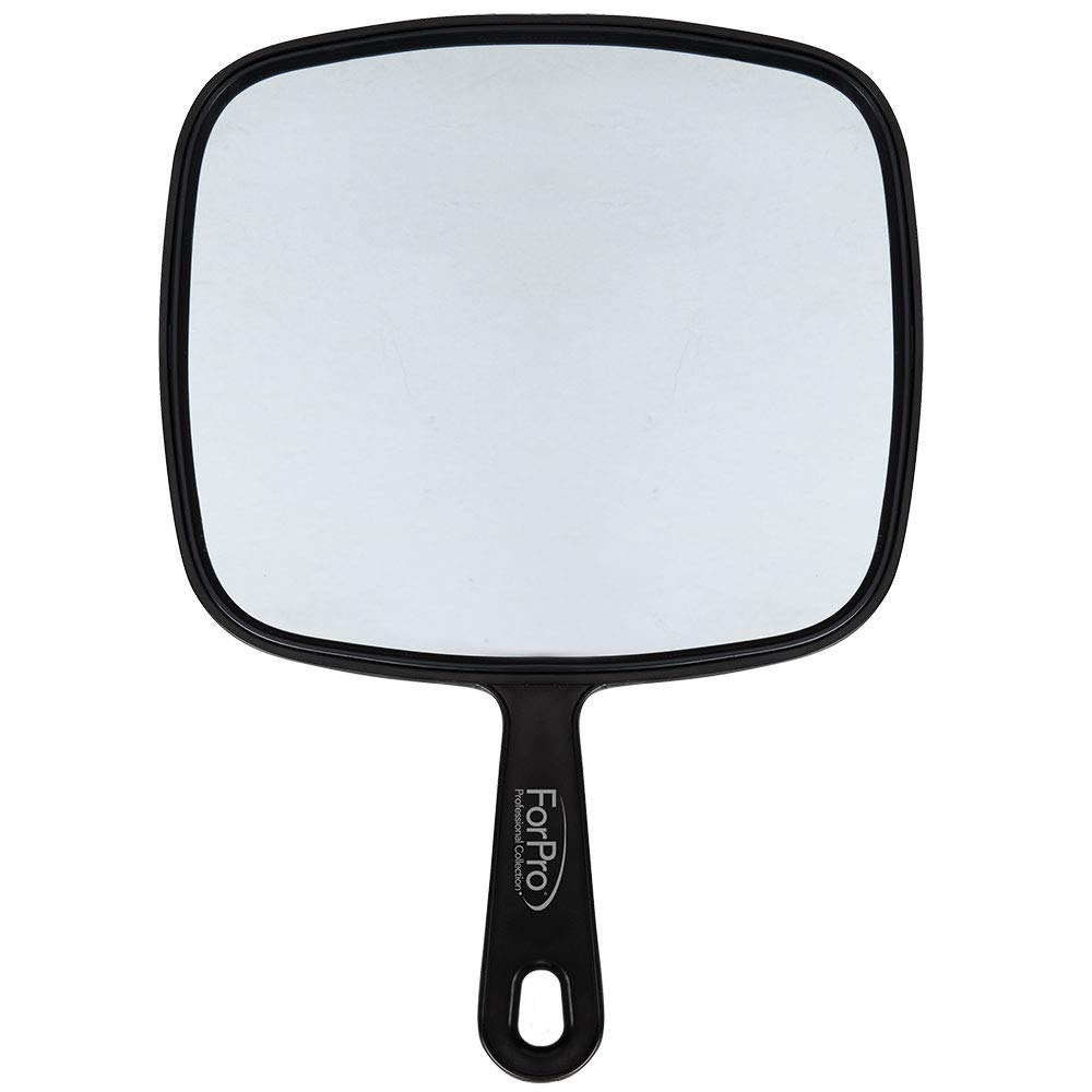 "ForPro Large Hand Mirror, Black, 9"" W x 12"" L: Beauty"