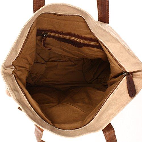 unisexe main Sac Sac LECONI à Sac à cuir Grand en bandoulière bandoulière en Sac à Weekender sac toile et dentelle Vintage XL Sac en en à beige sac à marron C LE0040 Style bagages bandoulière 35x39x20cm zzpErxBnq