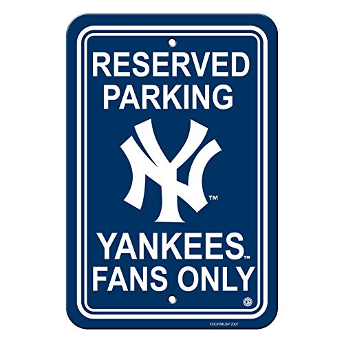 Ny Yankees Sign (Official Major League Baseball Shop Authentic MLB Parking Sign - Man Cave and Bar (New York Yankees-Reserve))