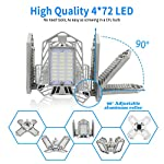LED Garage Lights, New Upgrade 150W Deformable Four Leaf Ceiling Light, 15000LM Ultra-Bright Trilight Lighting with 4… 11