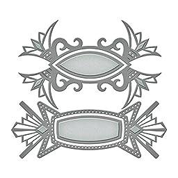 Spellbinders Shapeabilities Dies-Art DECO Tags, Grey