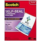 Scotch - Self-Sealing Laminating Pouches, 9.5 mil, 8 1/2 x 11, 25/Pack LS854-25G (DMi PK