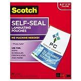 Scotch LS85425G Self-Laminating Pouches, 9-1/16-Inch x11-5/8-Inch,25/PK, Clear