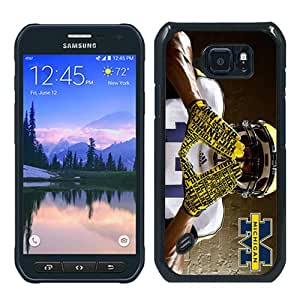 Samsung Galaxy S6 active Case,Beautiful and Elephant Ncaa Big Ten Conference Football Michigan Wolverines 7 Black Samsung Galaxy S6 active Cover Case