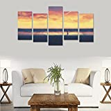 Contemporary Fashion Wall Art Maple tree autumn season nature beauty Canvas Print Home Wall Personal Decoration Room Wall Decor Oil Painting 5 Piece Oil Paintings Canvas (No Frame)